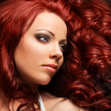 Red Wavy Human Hair Extensions 14