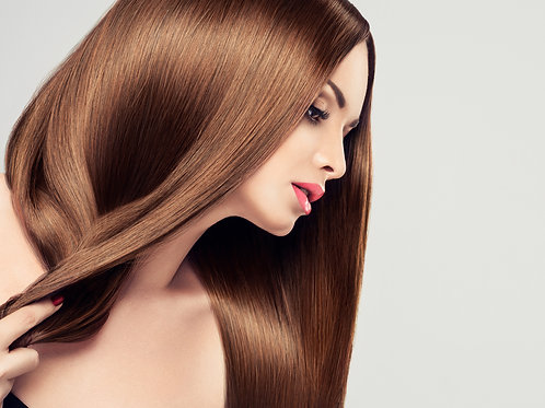 Silky Straight Human Hair Extensions Brown