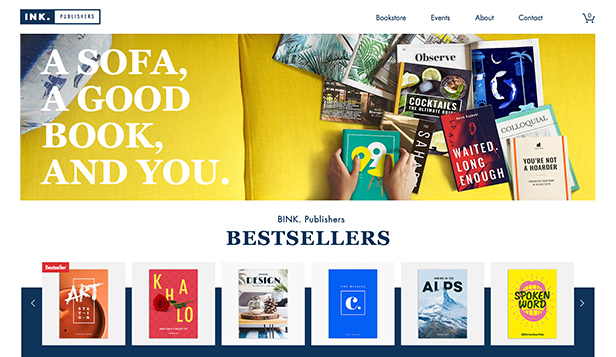 NEW! website templates – Online Bookstore