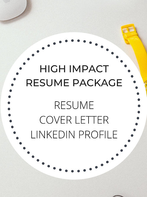 High Impact Resume Package