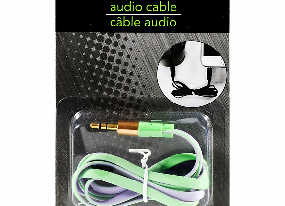 E-Circuit Colored Tangle Free Audio Cables, 36x0.5 in.