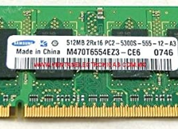Samsung 512mb Pc2-5300s-555-12-a3 MEMORY STICK