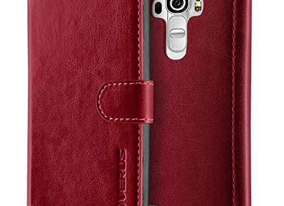 Genuine VERUS Dandy Layered Soft PU Leather Wallet Cover For LG G4 (Wine)