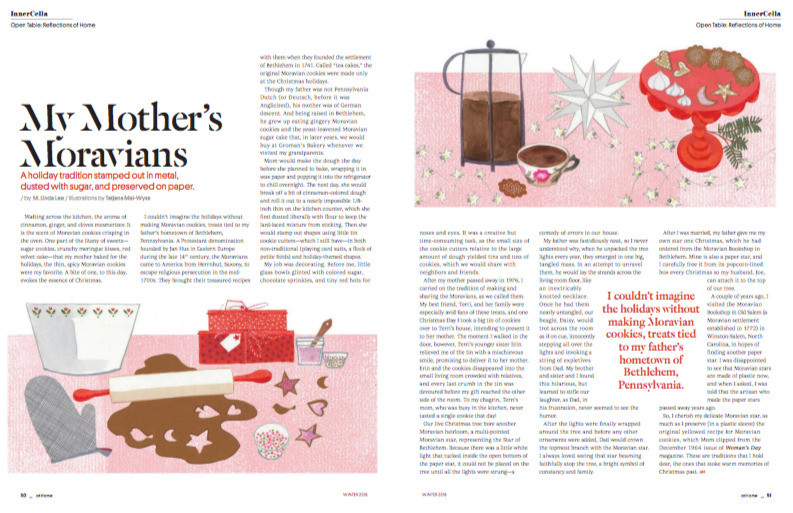 Holiday spread for AtHome Magazine