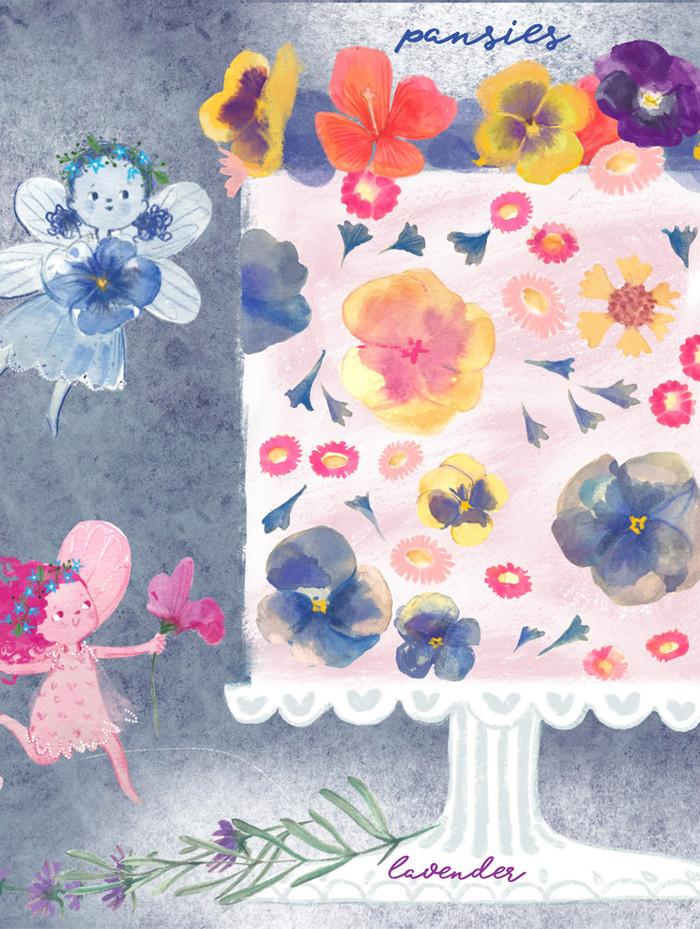 Fairies with giant cake