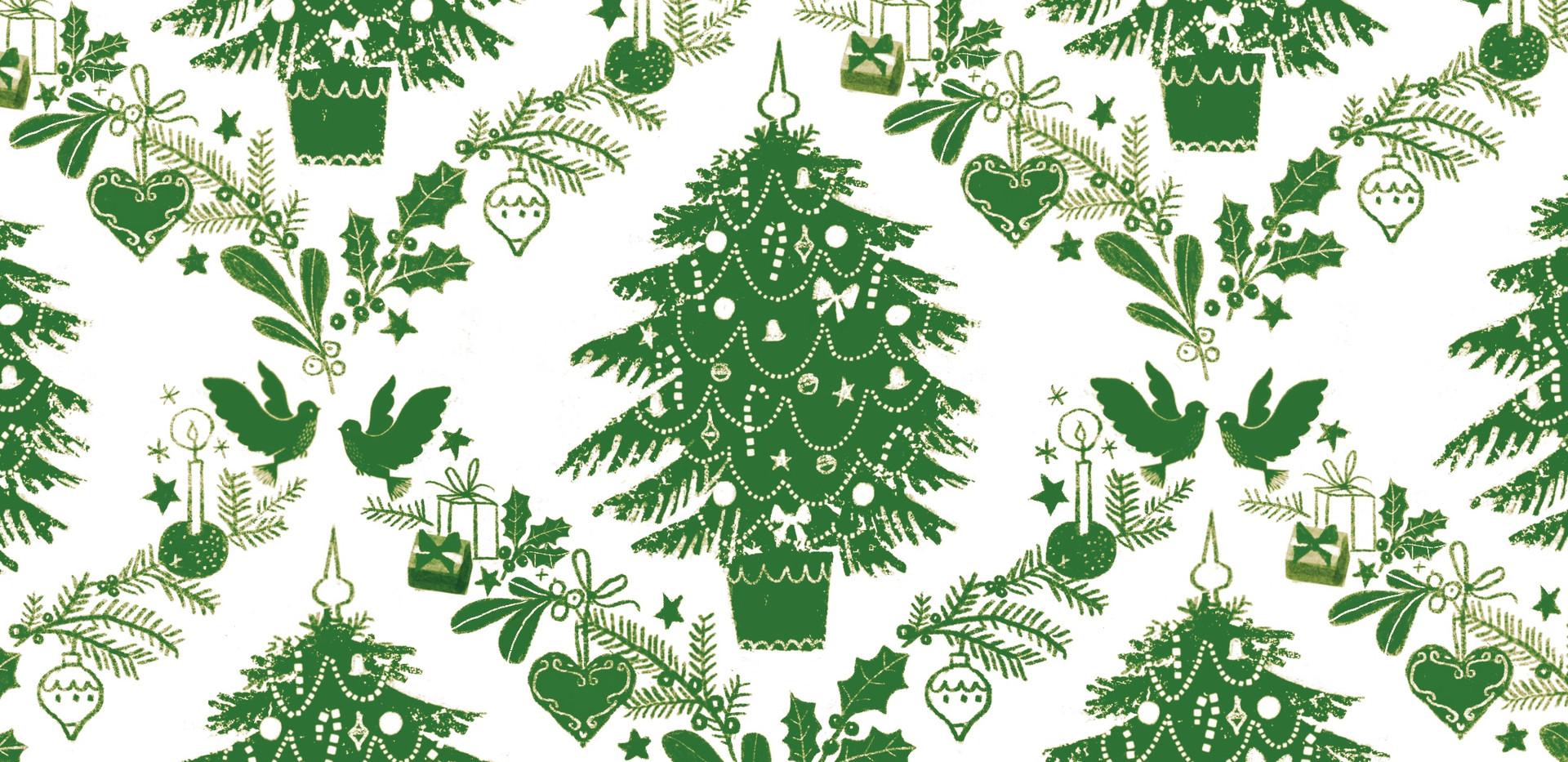 Damask Christmas Tree Pattern