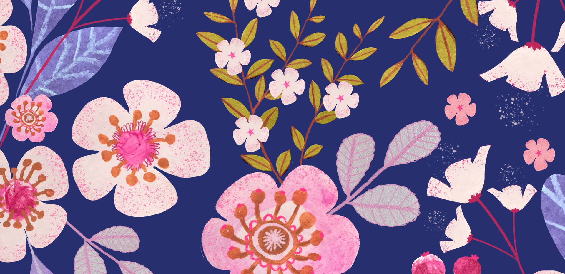 cherry blossom collage pattern