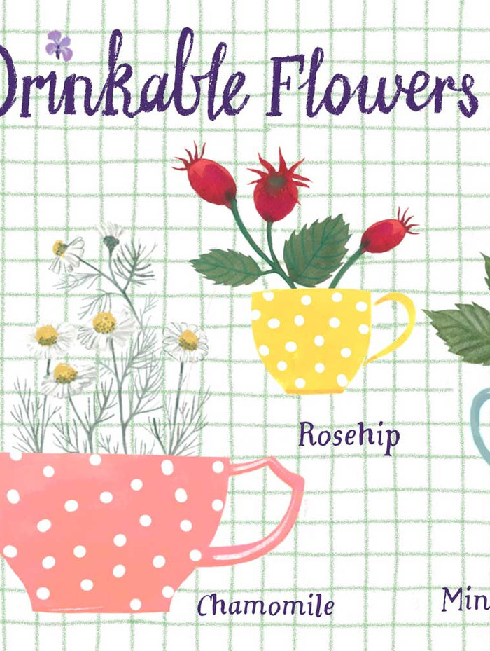 Drinkable Flowers detail left