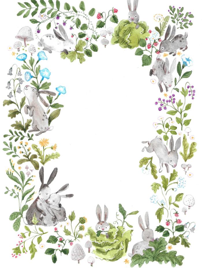 Old fashioned Rabbit Border