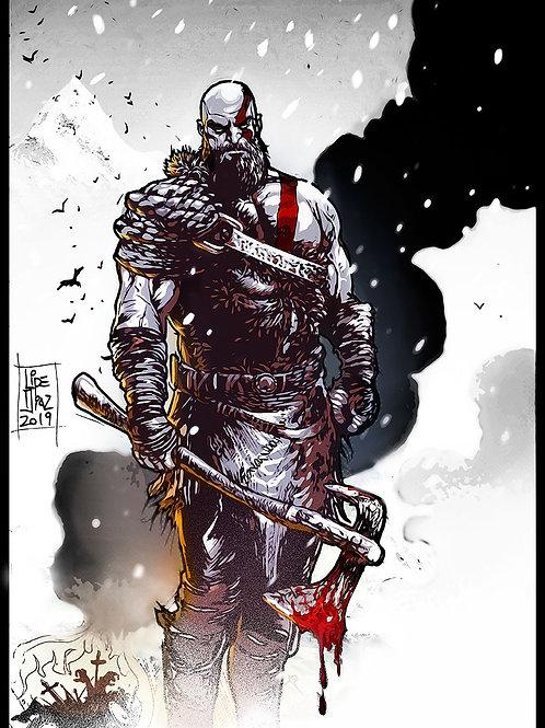 Print A3 - God of War