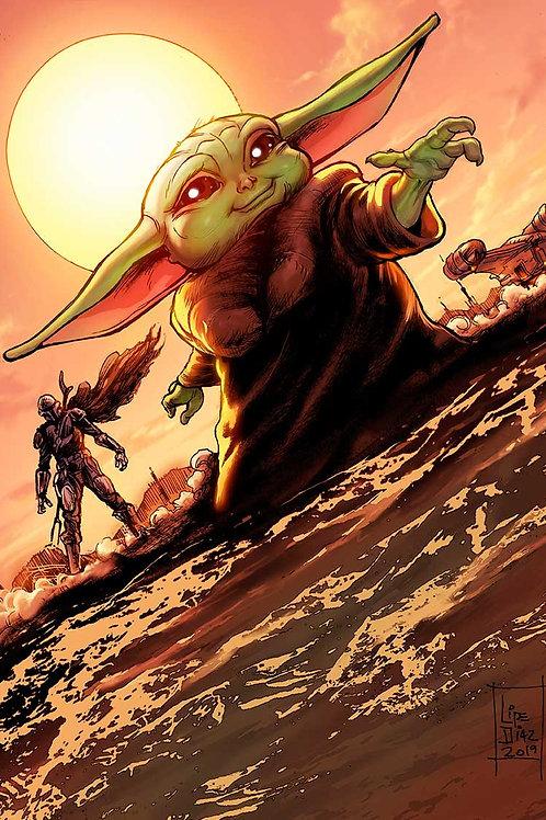 Print A3 - Baby Yoda Mandalorian