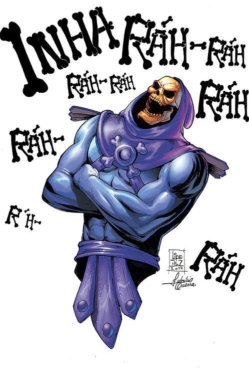 Print A4 -Esqueleto do He-man