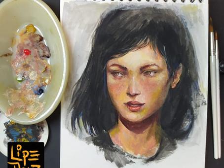 Pintura em Guache: Como fazer Pinceladas Soltas?