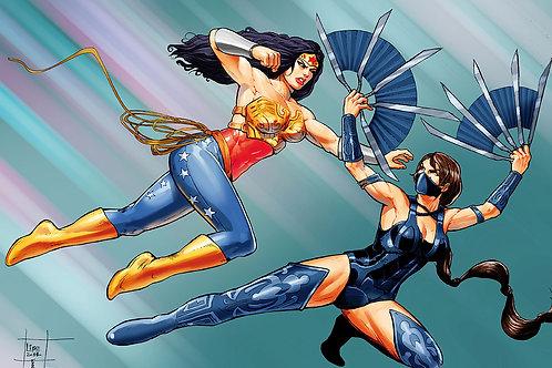 Print A3 - Injustice Mulher  Maravilha  vs Kitanna