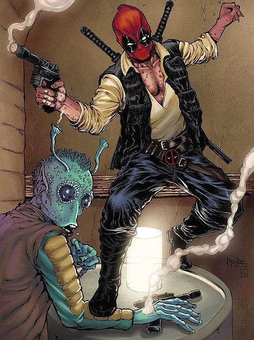 Print A3 -Deadpool HanSolo