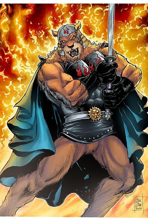 Print A4 - Lion Man