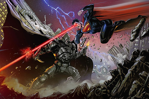 Print A3 - Batman vs Super Man