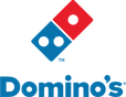 The logo of a Pizza company called Domino's