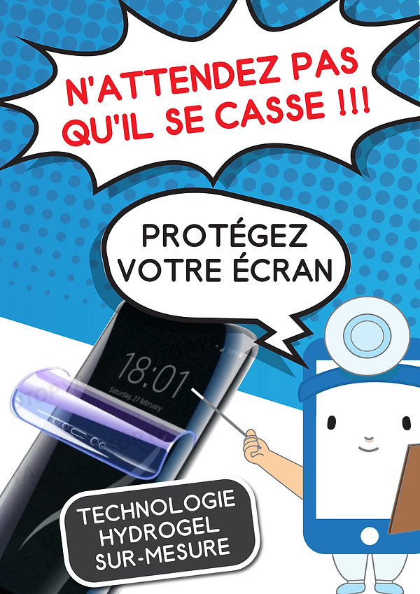 Protection d'écran téléphone Hydrogel