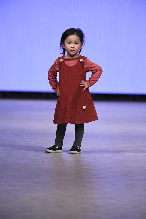 LÉOTIE version personnalisable - La robe trapèze en version hiver