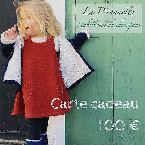 Carte-cadeau d'une valeur de 100 euros