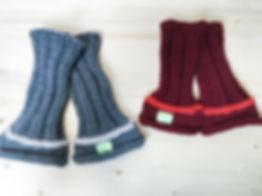 Handknitted grey merinos wool leg warmer