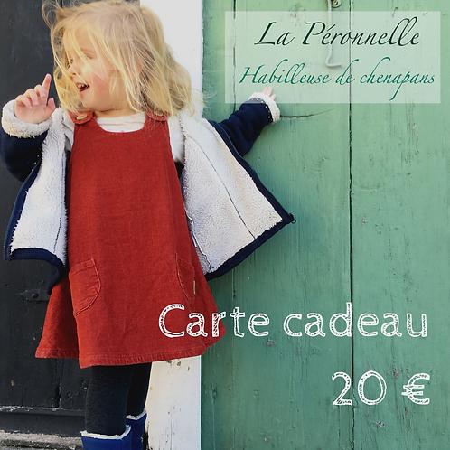 Carte-cadeau d'une valeur de 20 euros