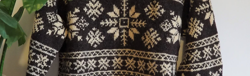 Vintage J Crew Fair Isle Wool Sweater