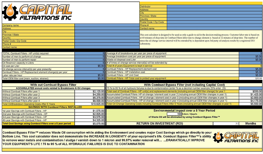 Capital Filtrations Calculator ROI2_Page