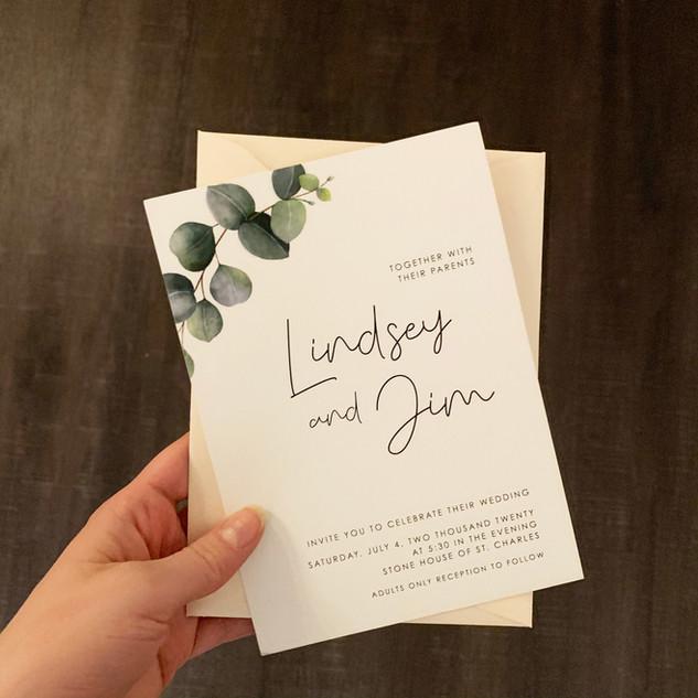 Lindsey & Jim Invite