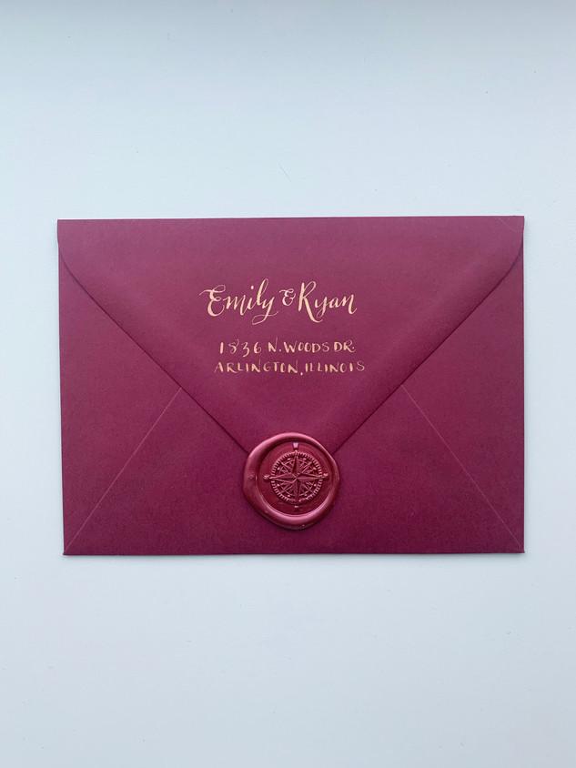 Emily & Ryan Save the Date Envelopes