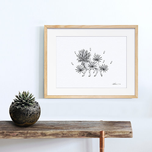 Animal Ink Illustration - Addex / Chen Naje - Blockprints
