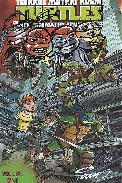 Four Brothers TMNT Remarque on TMNT Animated Vol. 1