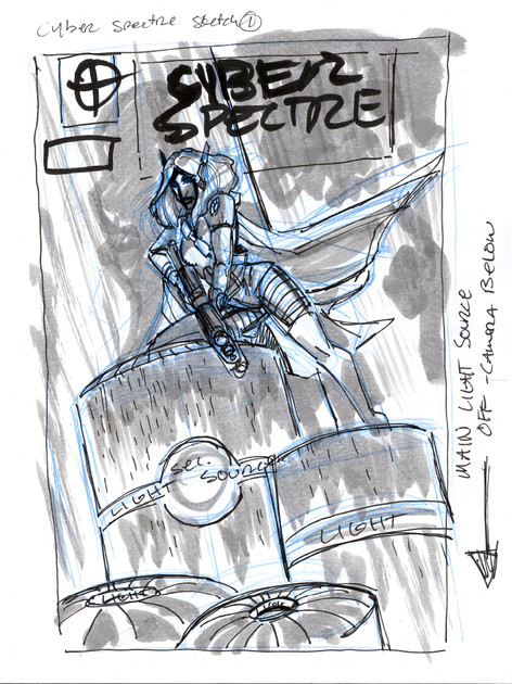 Cyber Spectre #1 Cover Prelim