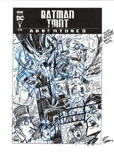 Batman/TMNT Adventures #1 Cover Prelim