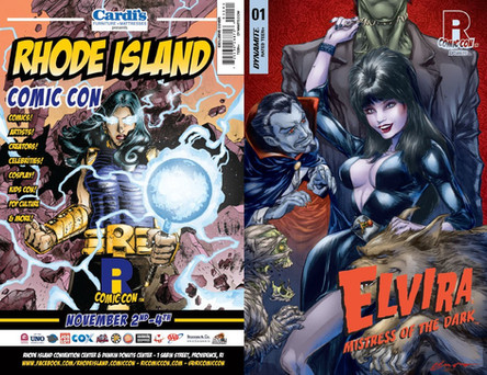 Elvira #1 Back Cover and Front Cover