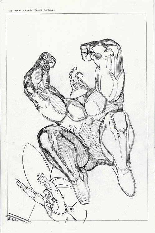 The Tick RICC Special Cover Pencil Layout