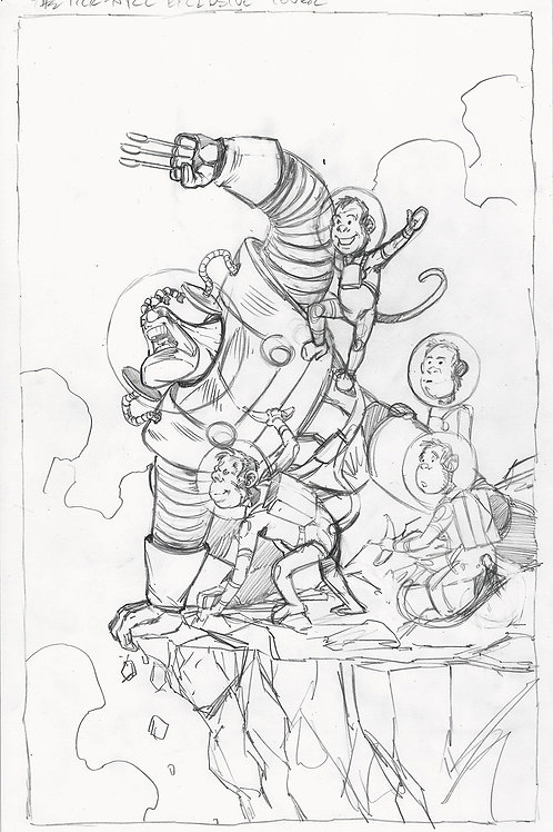 The Tick NYCC Cover Pencil Original