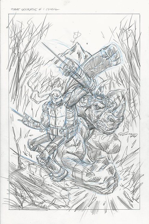 TMNT Universe #1 11x17 Cover Pencil Layout