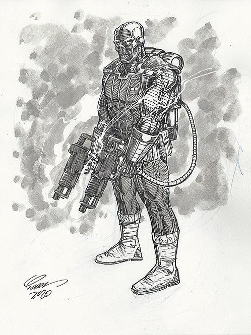 Deathlok Original Sketch
