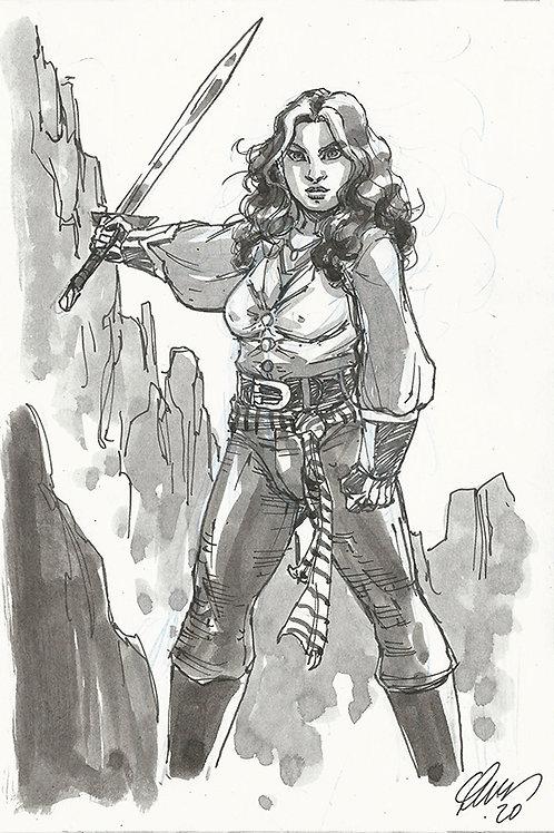 6x9 Fantasy Sketch