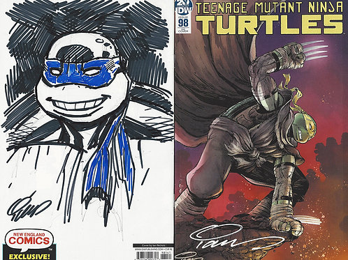TMNT 98 Exclusive Cover with Remarque on Back