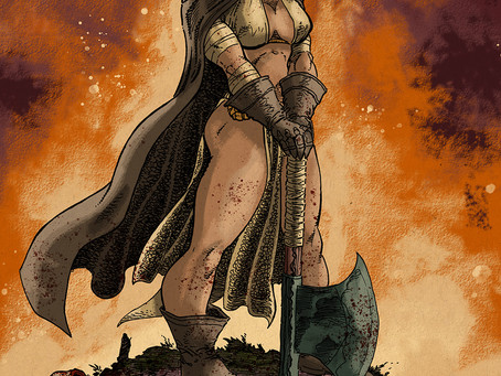 The AXE of HELLENA Pinup by PAT BRODERICK!