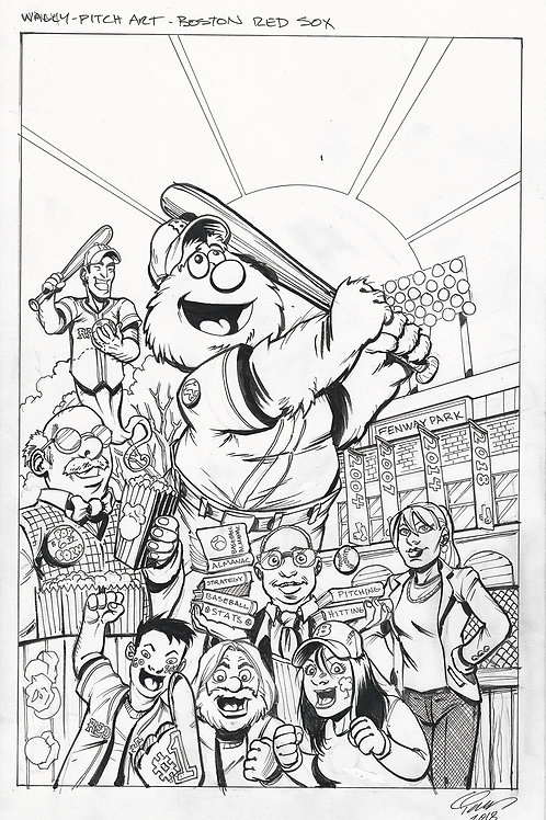 Wally The Green Monster Pitch Artwork
