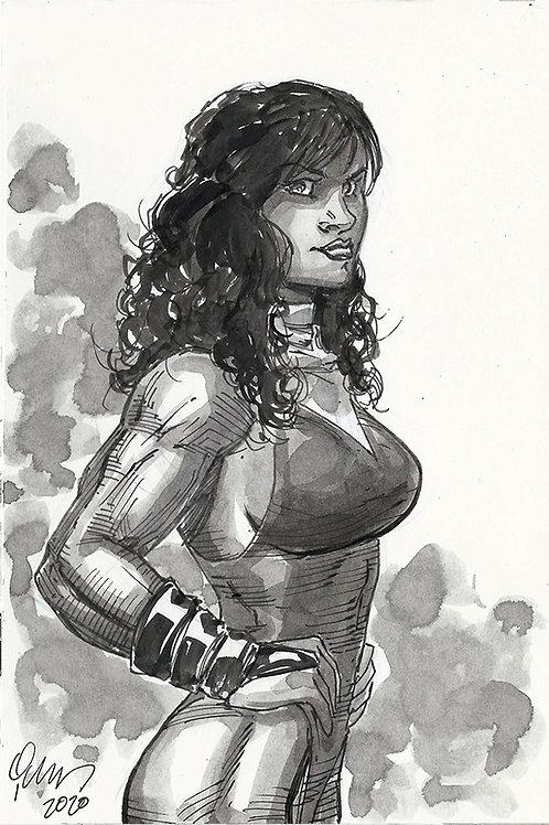 6x9 She Hulk Sketch