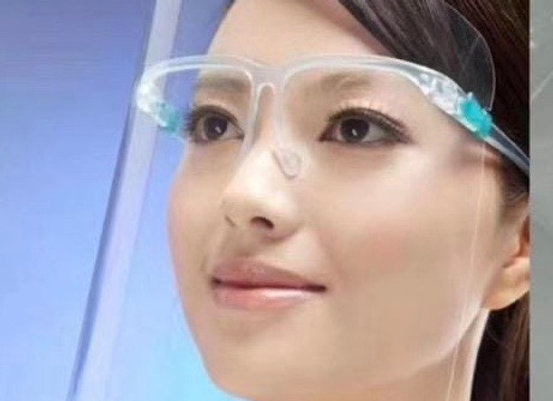 Face Shield with Glasses Style Hold