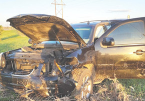 Family thankful to walk away from car crash