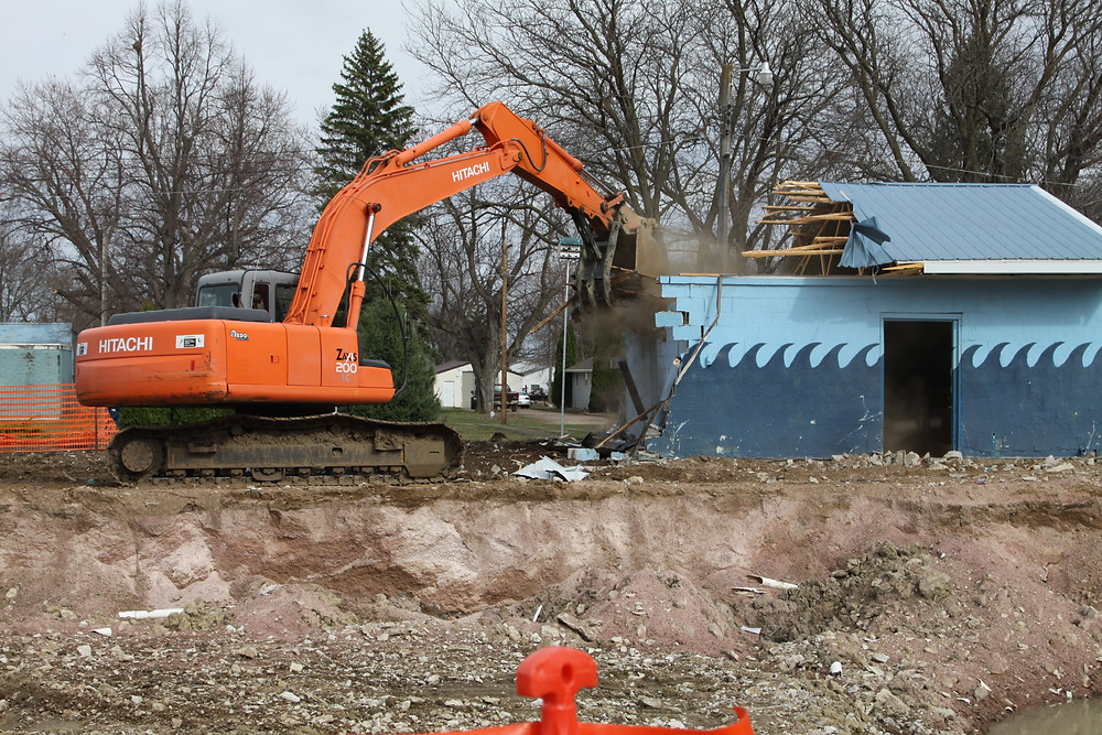 C. Dillon Digging recently razed the Lennox swimming pool and bath house (pictured above). Construction on the new swimming pool is scheduled to take place this summer.