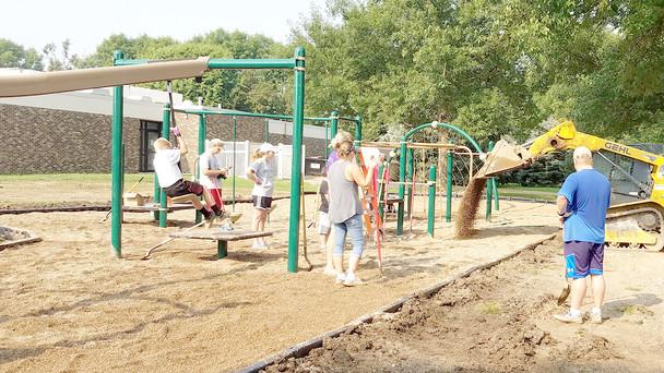 New playground equipment in Worthing