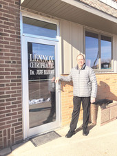 Dr. Elhoff provides Lennox with chiropractic care for 40 years